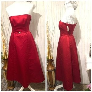 Michael Angelo Apple Red Strapless Dress size 2